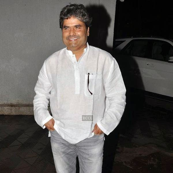 Vishal Bharadwaj at the wrap-party of Bollywood movie Mary Kom, held at Sanjay Leela Bhansali's residence on July 26, 2014.(Pic: Viral Bhayani)
