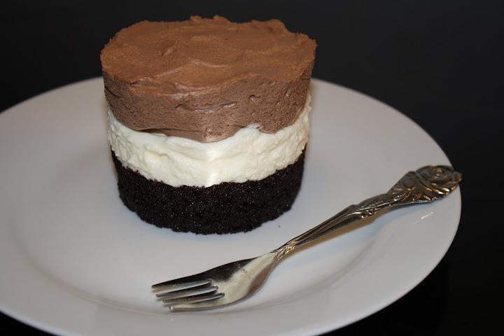 opskrift på Triple chocolate mousse dessert