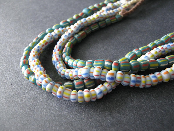 Striped African Glass Trade Beads