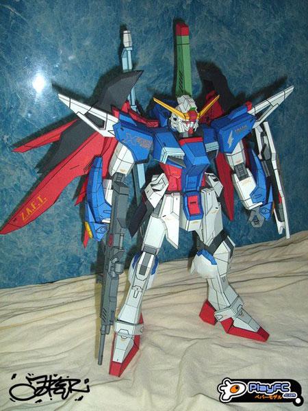 Destiny Gundam Papercraft Extreme Blast Mode