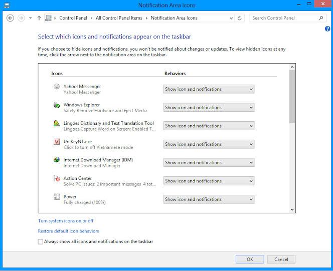 Cách Hiển Thị Hoặc Ẩn Biểu Tượng Khay Hệ Thống Windows 10 - AN PHÁT