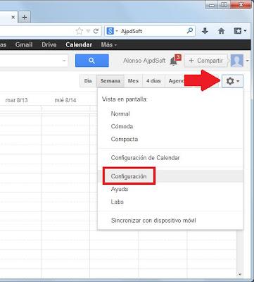 Importar calendario de Outlook en formato CSV a Google Calendar
