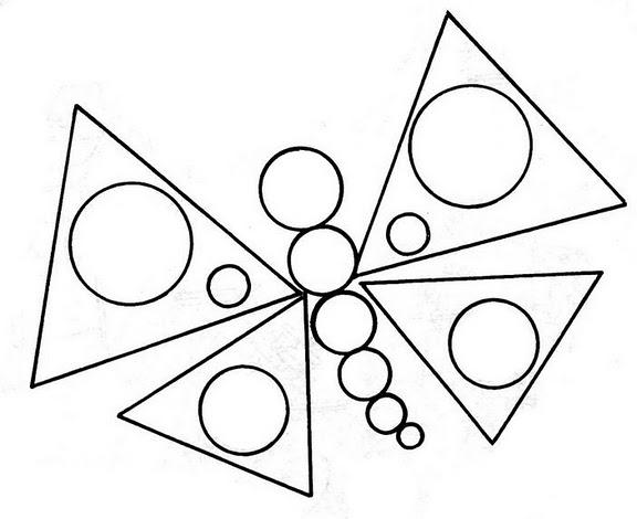 Pinto Dibujos Mariposa de figuras geomtricas para colorear