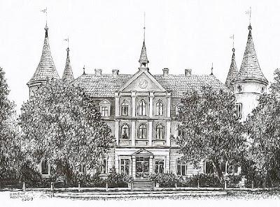 Pałac w Kębłowie – stan przed 1945 r.