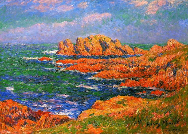Henry Moret - The Rocks at Ouessant, 1902