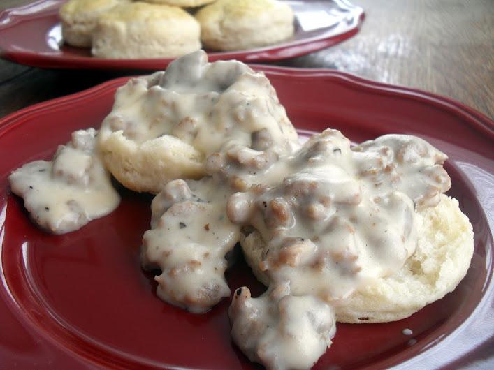 Basic Buttermilk Biscuits & Sausage Gravy | Veronica's Cornucopia