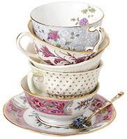 antique asian teapot burgandy