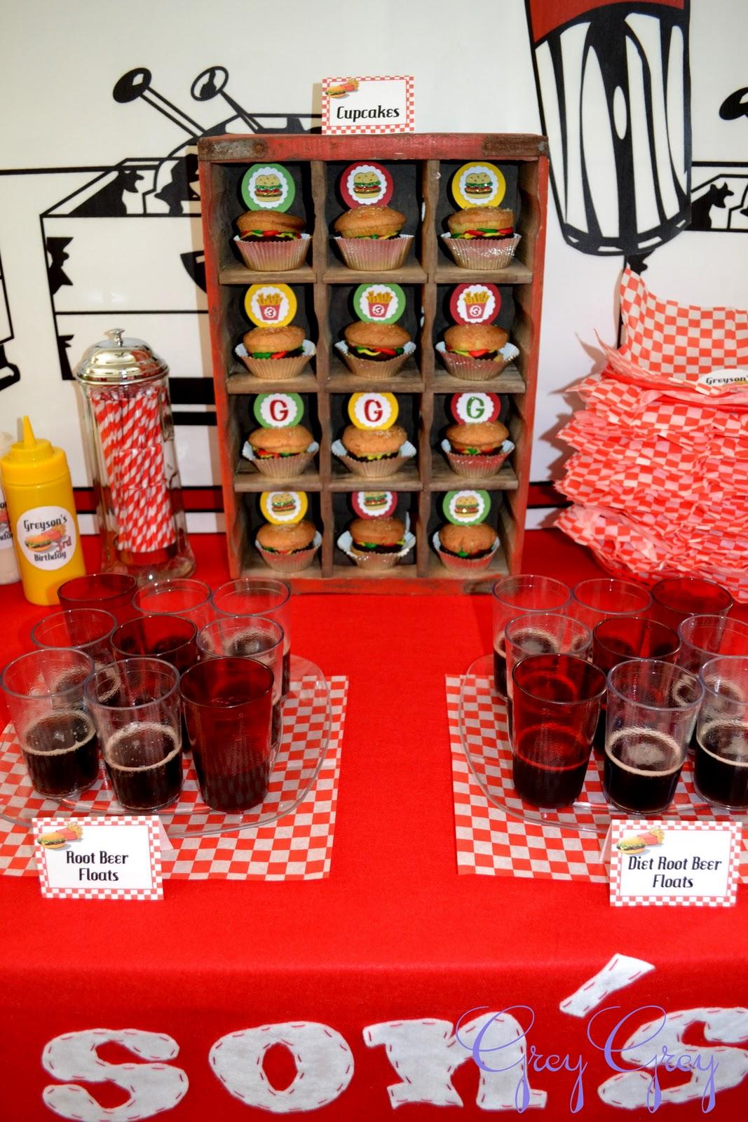 Hamburger Themed Birthday Party