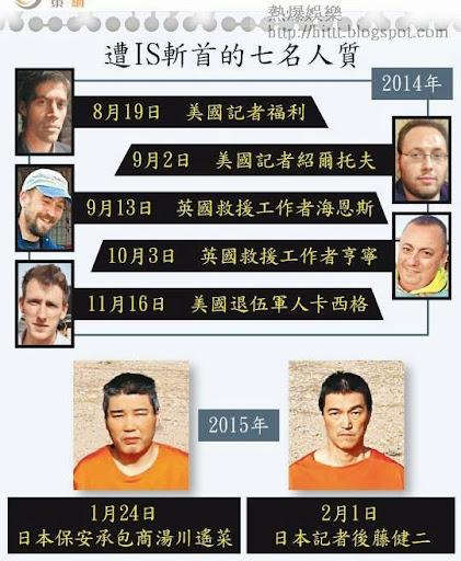 遭IS斬首的七名人質