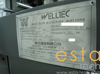 Welltec TTI-260SE (2013) Servo-Driven Plastic Injection Moulding Machine
