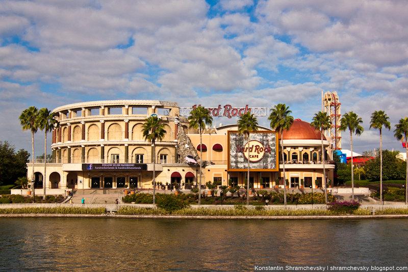 USA Florida Orlando Hard Rock Cafe Biggest in the World США Флорида Орландо Самое Большое в Мире Хард Рок Кафе