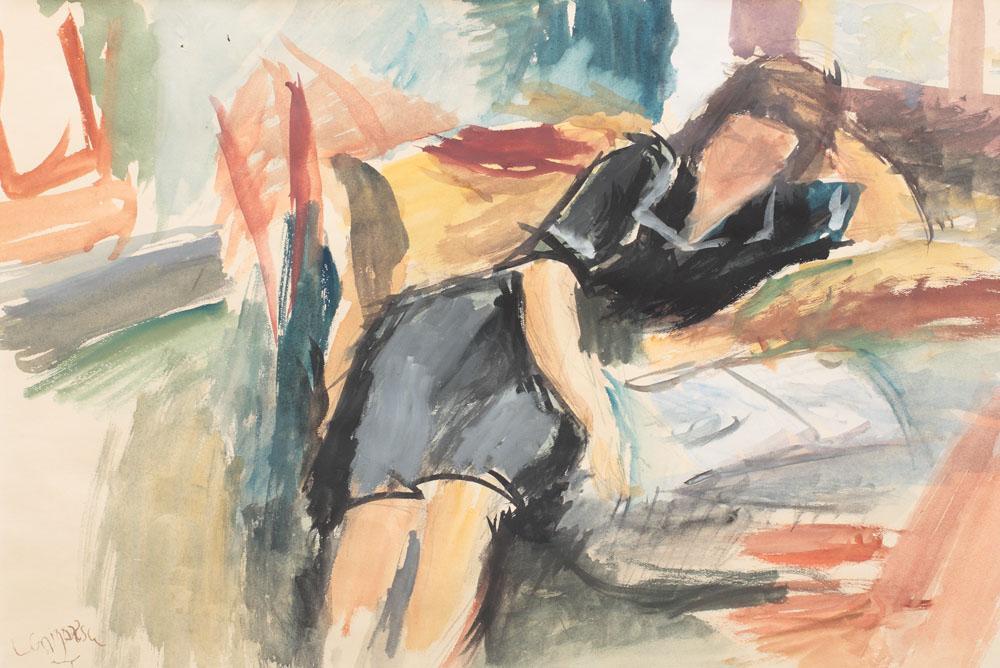 Lucian Grigorescu - Femeie în interior.