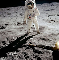 Buzz Aldrin on the moon(original photo)