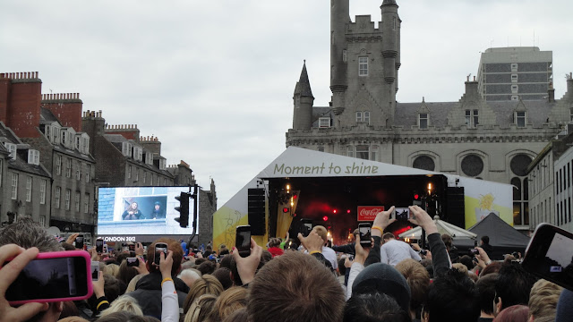 Olympic Torch in Aberdeen