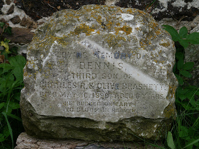 Memorial stone at St Cecilia - West Bilney