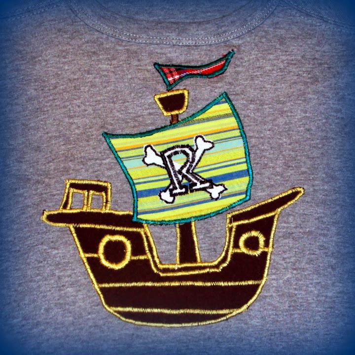 Piratenschip op t-shirt