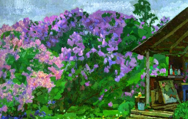 Nikolai Timkov - Lilacs at the Studio