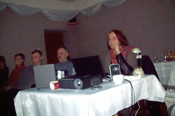 Lidia Talik w trakcie prelekcji