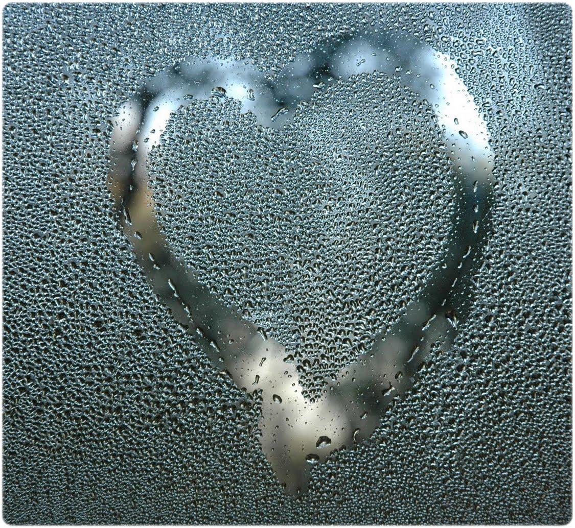 Resultado de imagem para coração em vidro embaçado