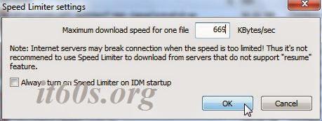 Thủ thuật giới hạn tốc độ tải file trong IDM 4