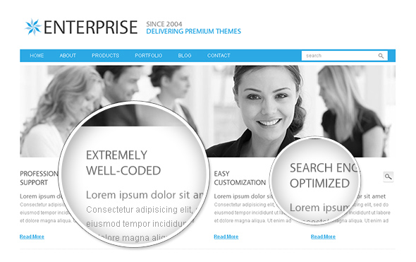 Enterprise WordPress Theme with Beautiful Custom Typography