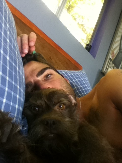 Zachary Quinto and his dog 1