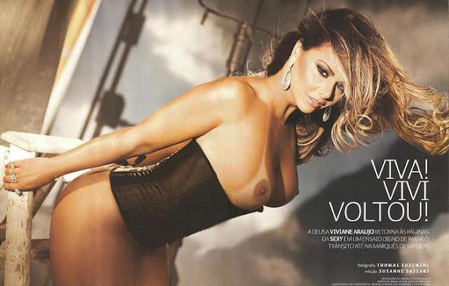 fotos Viviane Araújo nua pelada na revista Sexy