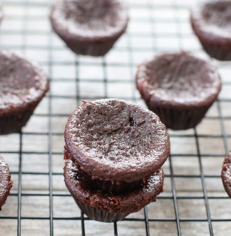 photo of Flourless Nutella Pumpkin Muffins on a baking rack