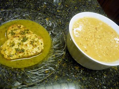 Gardein Chicken Scallopini and Washington's Peanut Soup