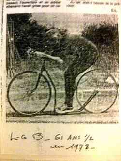 Louis-Georges BOGRAND sur la Trocyclette