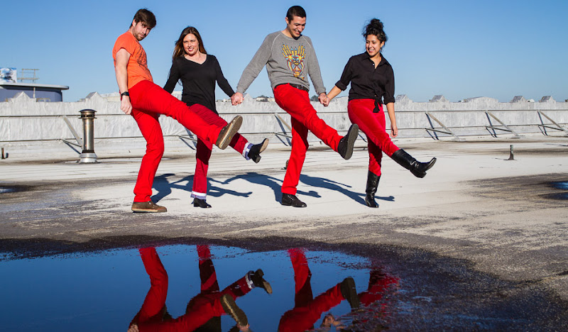#RedPantsFriday dancing on the roof