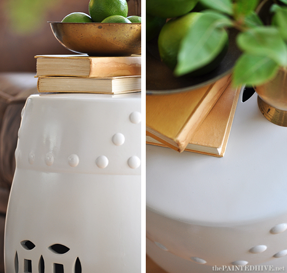 How To Paint Ceramic...Drum Stool Transformation