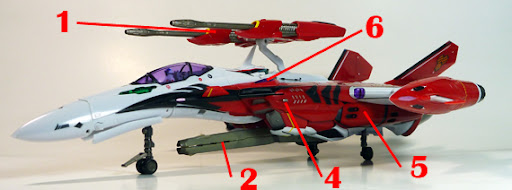 Macross Frontier YF-29 Durandal Armament weapon position