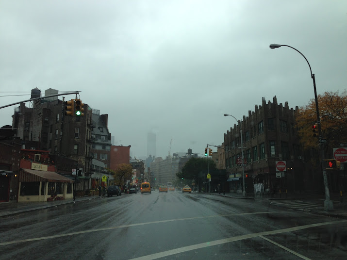 Freedom Tower shrouded by Sandy