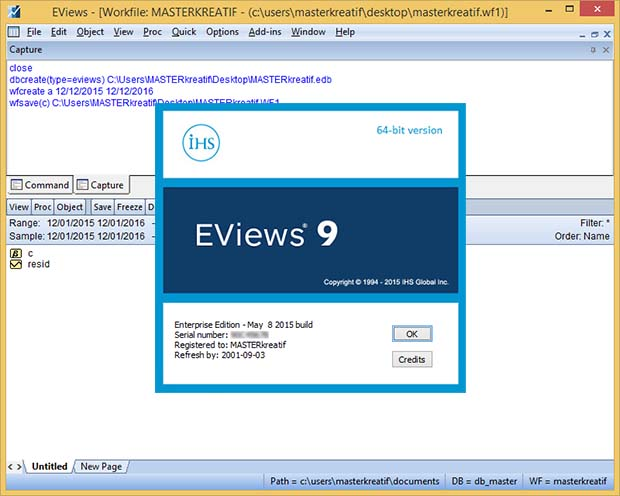 eviews 9  full version crack