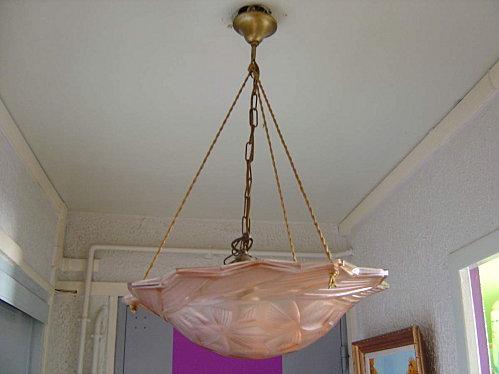 lustre suspension vasque art deco vide grenier et brocante. Black Bedroom Furniture Sets. Home Design Ideas