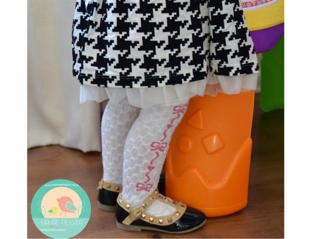 Moda infantil sapato valentino inspired