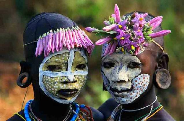 Omo Tribes in Ethiopia Body Painting  XarJ Blog and Podcast
