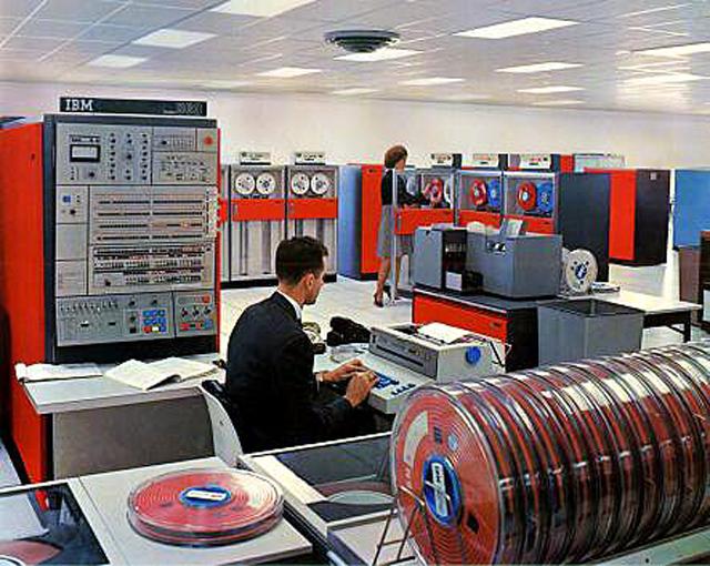 IBM 370 computer room
