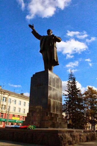 Lenin statue Irkutsk Russia