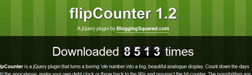 flipCounter : jQuery Counter Plugin