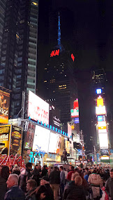 New York City in March 2014- Times Square on a Saturday night