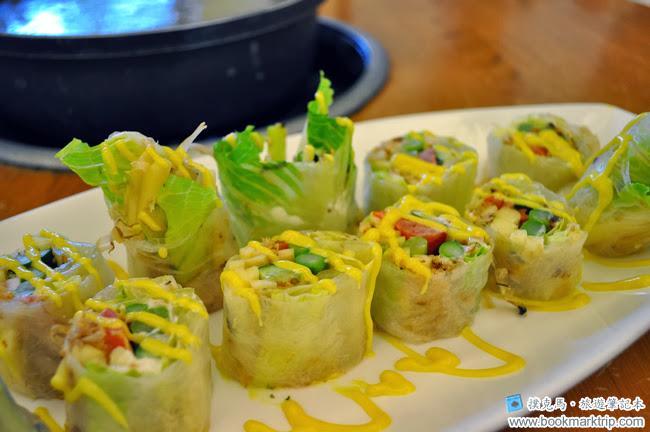 黑公雞風味餐廳蔬菜沙拉捲