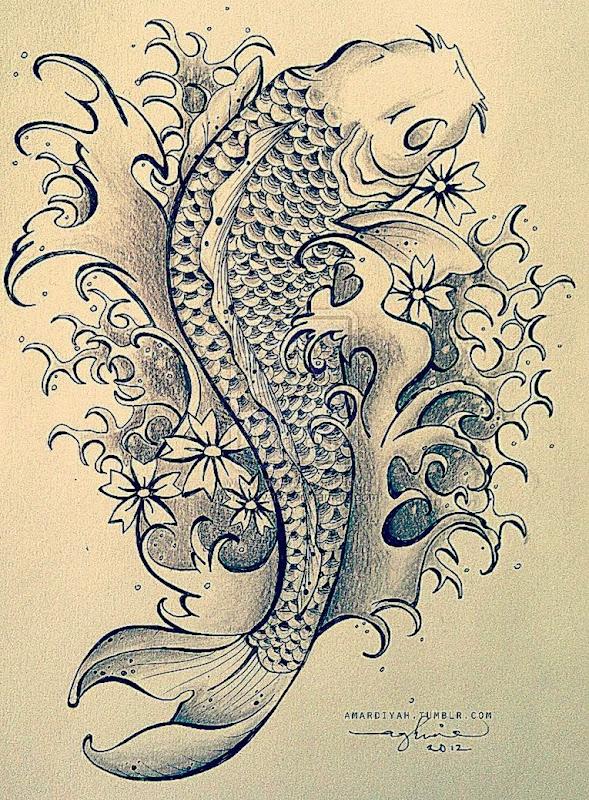 DeviantArt More Like Koi Fish Tattoo by mardiyaha