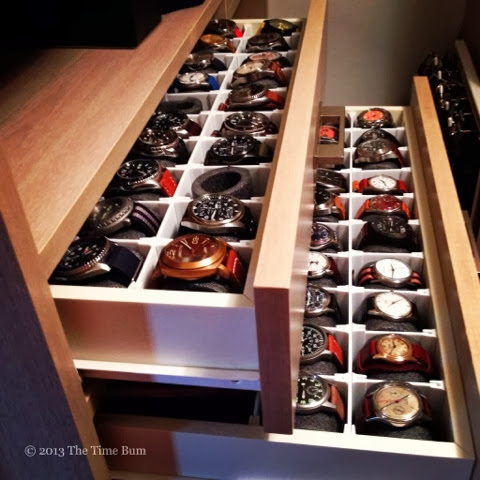 My Solution Was A Dedicated Watch Drawer. I Was Lucky In That The Previous  Owner Of Our House Had Installed An Insane Closet System With A Host Of  Drawers ...