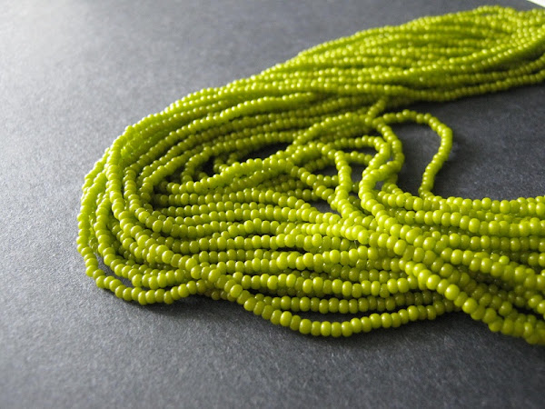 Olive Green Czech Glass Seed Beads