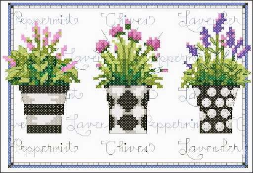Herb triocross stitch pattern