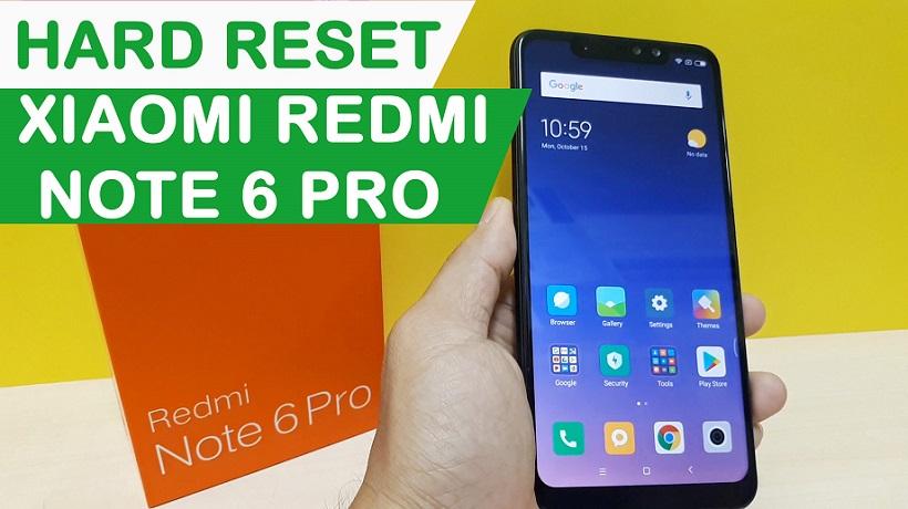 Hướng dẫn Hard Reset Xiaomi Note 6 Pro