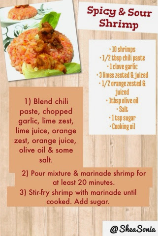 Spicy & Sour Shrimp by Shea Sonia recipe