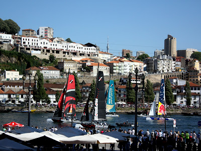 Boat race in Porto Portugal